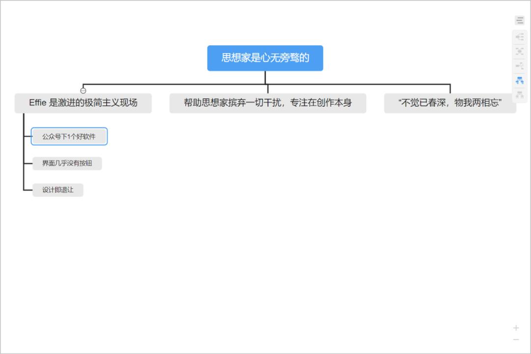 注重写作的笔记软件,支持思维导图:Effie-6