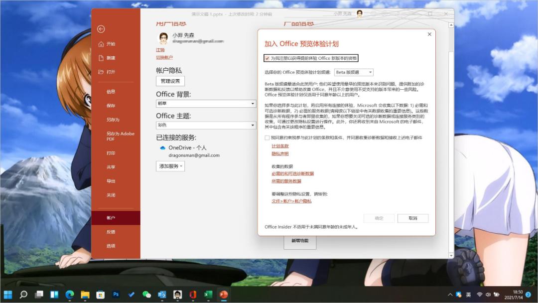 Windows 11 开启 Office 365 / 2021 / 商店版新界面方法-3
